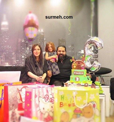 عکس های جشن تولد دختر رضا صادقی و همسرش