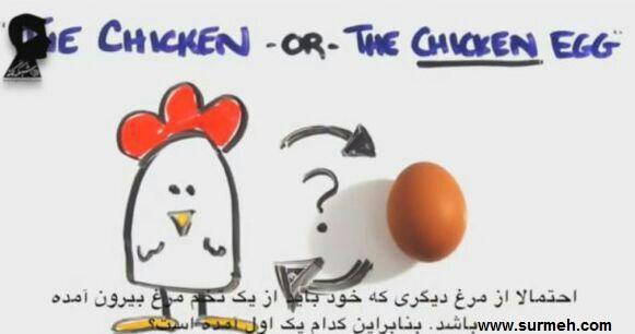 دانلود کلیپ اول مرغ به وجود آمد یا تخم مرغ؟