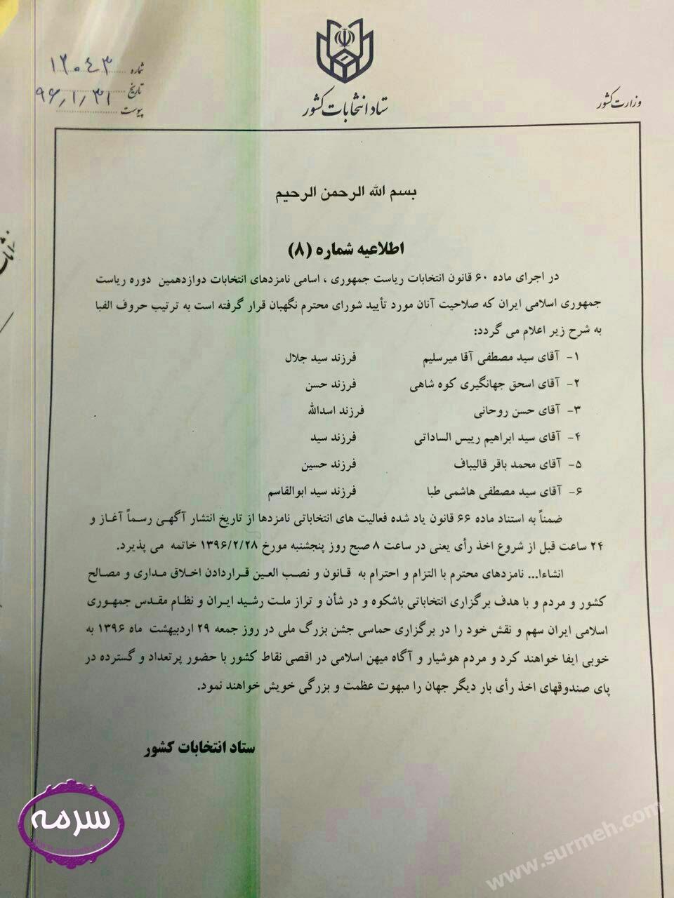 عکس و اسامی نامزدهای احراز صلاحیت شده انتخاباتی